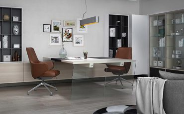mẫu thiết kế nội thất biệt thự phong cách hiện đại phòng làm việc