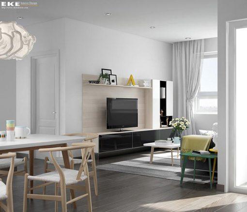thiết kế nội thất căn hộ Tropic Garden Thảo Điền phòng khách