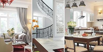 Mẫu thiết kế nội thất biệt thự bán cổ điển