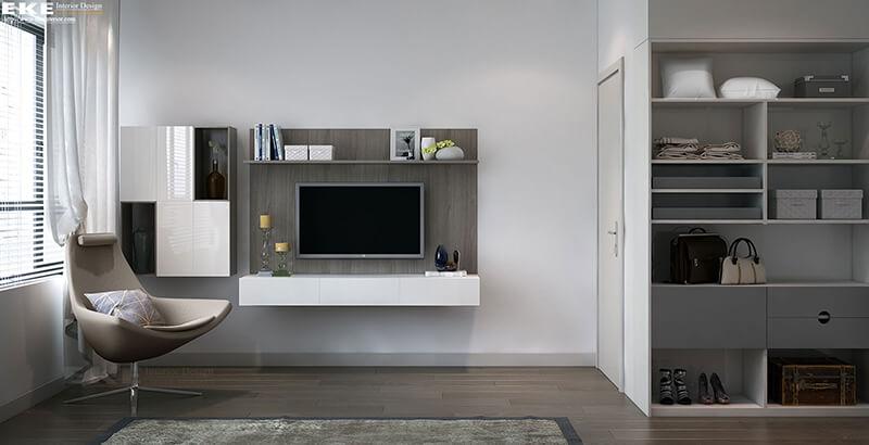 thiết kế nội thất căn hộ Riviera Point quận 7 phòng ngủ
