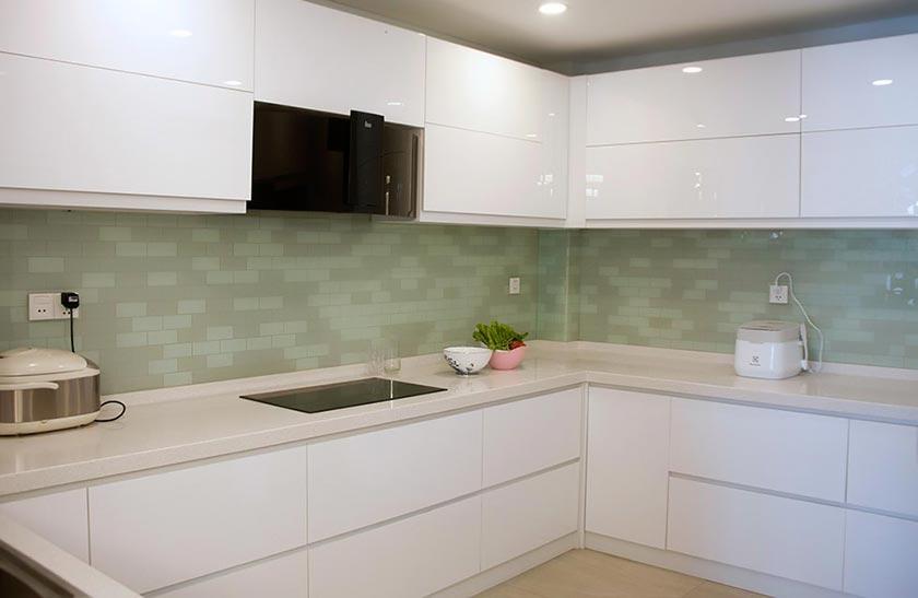 mẫu thiết kế thi công nội thất nhà phố đẹp phòng bếp