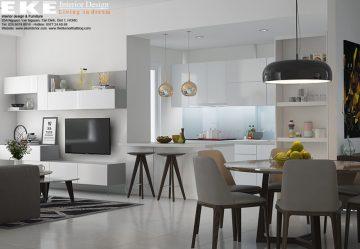 thiết kế nội thất căn hộ sunrise city-bếp