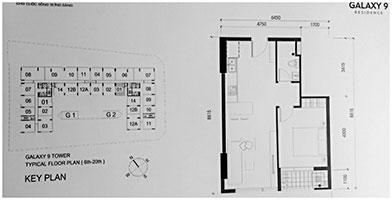 Khảo sát thiết kế nội thất căn hộ Galaxy9 G2.01