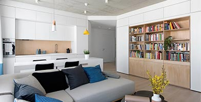 Thiết kế nội thất Masteri Thảo Điền. Căn 2 phòng ngủ 69 m2