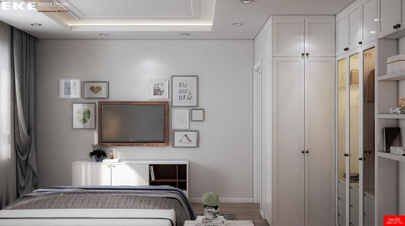 thiết kế nội thất căn hộ chung cư masteri thảo điền 70m2 phòng ngủ hiện đại