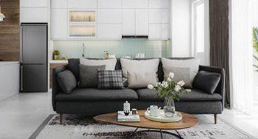 Thiết kế nội thất căn hộ chung cư đảo kim cương Brilliant Q2