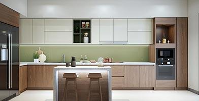 Mẫu thiết kế nội thất The Gold View 107m2 phong cách hiện đại