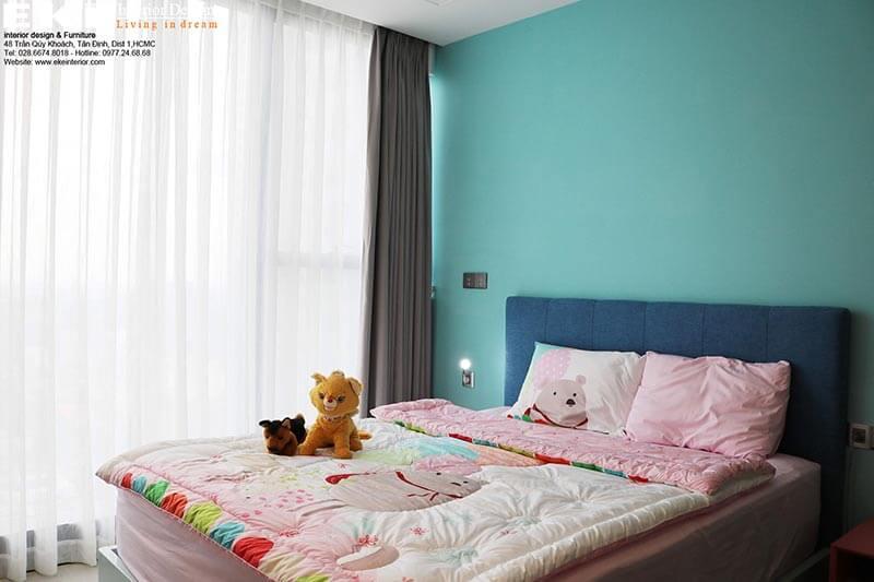 Thi công nội thất căn hộ Vinhome Ba Son Golden River-phòng ngủ