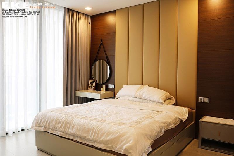 nội thất căn hộ Vinhome Ba Son Golden River-phòng ngủ chính