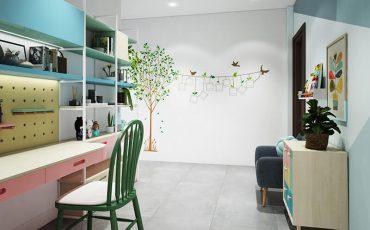 mẫu thiết kế nội thất nhà phố Kiên Giang phòng trẻ em