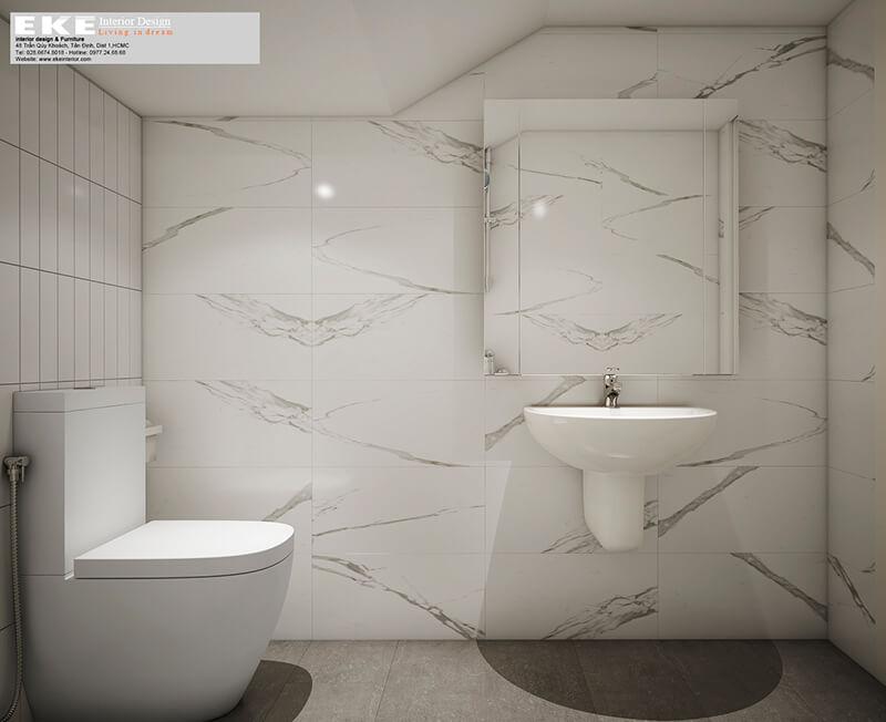 Thiết kế nội thất nhà phố Kiên Giang mẫu phòng tắm