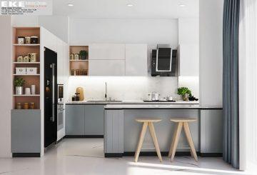 thiết kế nội thất nhà phố-bếp