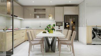 thiết kế nội thất nhà phố – bếp
