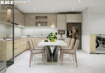 thiết kế nội thất nhà phố - bếp