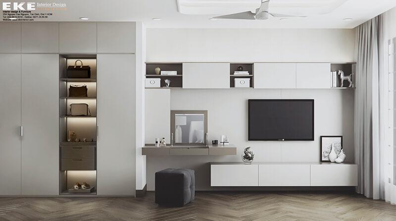 thiết kế nội thất nhà phố quận bình thạnh-phòng ngủ master