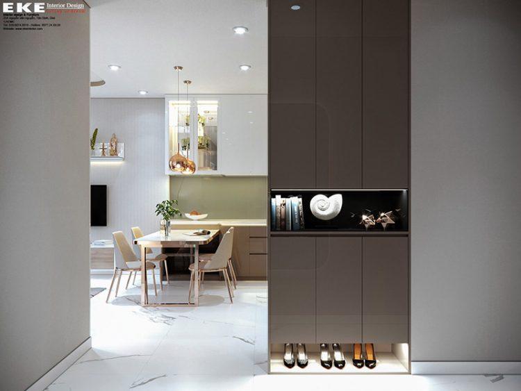 Thiết kế nội thất căn hộ Sunrise City View - phòng ăn