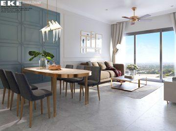 thiết kế nội thất căn hộ The Sun Avenue- bàn ăn