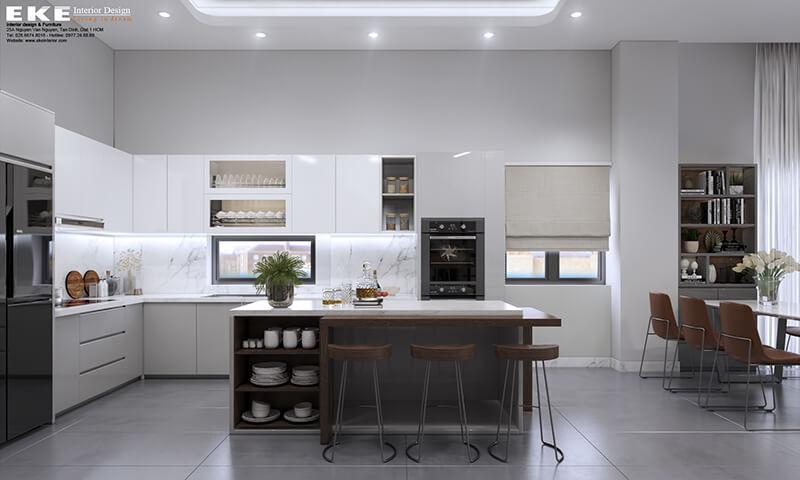 thiết kế nội thất nhà phố đồng nai-bếp