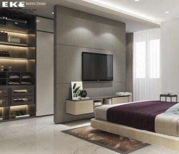 Thiết kế nội thất biệt thự Lakeview City phòng ngủ