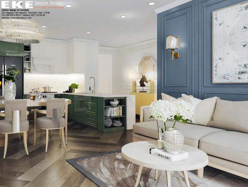 Thiết kế nội thất căn hộ chung cư Orchard Parkview bếp ăn
