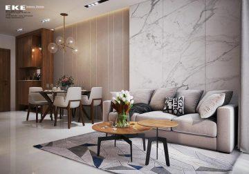 Thiết kế nội thất căn hộ chung cư Richstar - phòng khách