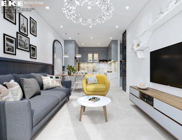 Thiết kế nội thất căn hộ Golden Mansion-phòng khách