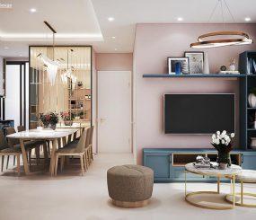 Thiết kế nội thất căn hộ chung cư Dragon Hill phòng khách