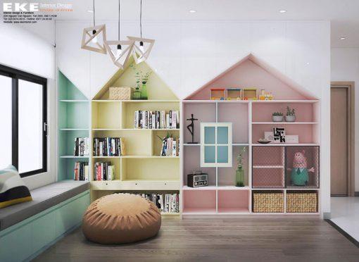 Thiết kế nội thất căn hộ chung cư Jamila phòng trẻ em