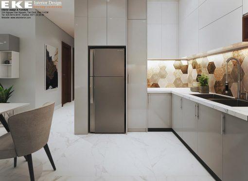 Thiết kế nội thất căn hộ Sunrise Cityview bếp