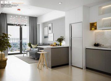 Thiết kế nội thất căn hộ chung cư Căn hộ Botanica Primier - phòng khách