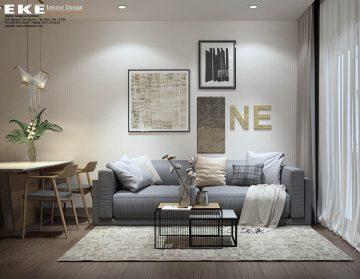 Thiết kế nội thất căn hộ chung cư Sunrise Cityview 72m2 - phòng khách