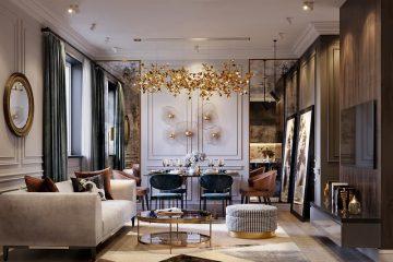 nội thất biệt thự phong cách cổ điển
