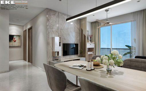 Nội thất căn hộ chung cư 82m2 Orchard Parkview phòng ăn
