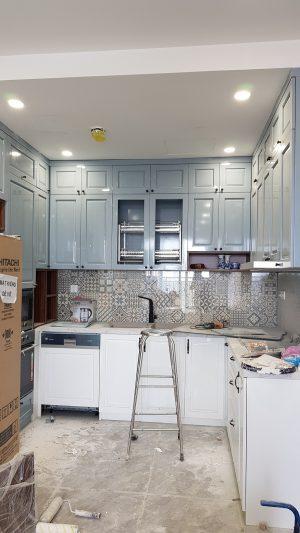 Hình ảnh công trường thi công căn hộ Golden Mansion 74m2 - bếp