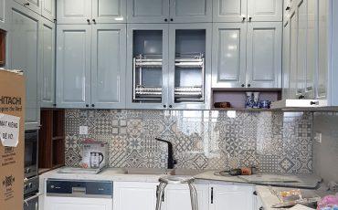 Hình ảnh công trường thi công căn hộ Golden Mansion 74m2 – bếp