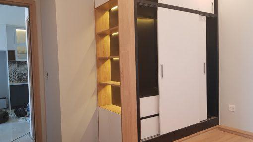 Ảnh thi công thực tế căn hộ chung cư Botanica Premier - tủ đồ