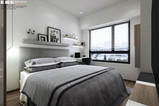 thiết kế nội thất căn hộ Newton phòng ngủ