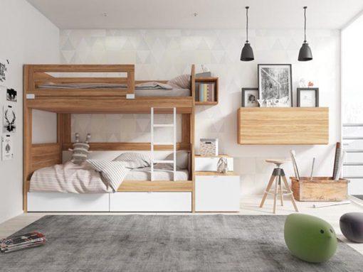 thiết kế nội thất phòng ngủ giường tầng