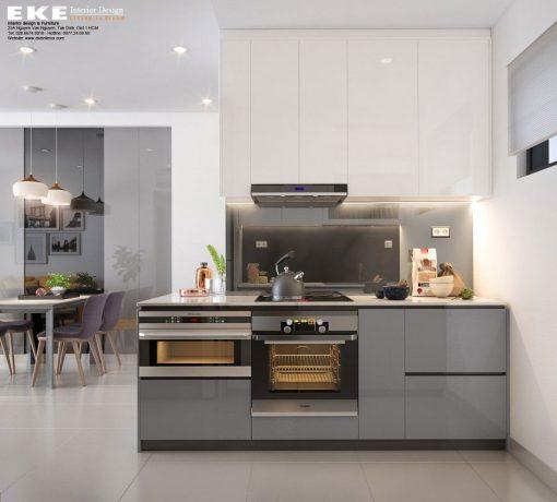 Thiết kế nội thất căn hộ chung cư The Sun Avenue 89m2 - Bếp