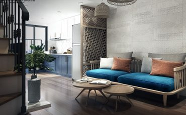 thiết kế nội thất căn hộ La Astoria-phòng khách