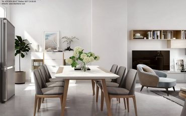 thiết kế nội thất nhà phố Park Riverside-bàn ăn
