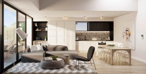nội thất phòng ăn liền kề phòng khách