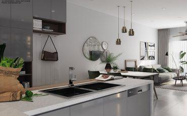 thiết kế nội thất căn hộ the grande midtown-bếp