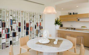 thiết kế thư viện tại nhà-trong phòng ăn