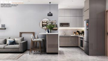 Nội thất căn hộ Jamila quận 9 - phòng khách - bếp