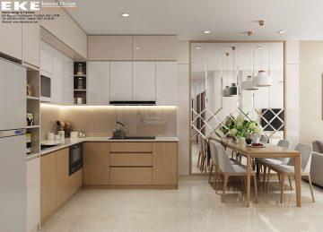 Thiết kế nội thất căn hộ chung cư Sunrise Cityview - Bếp
