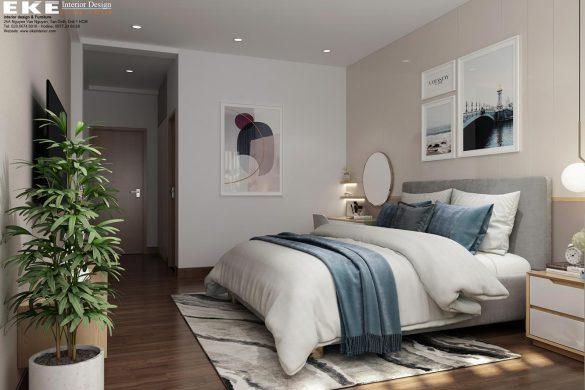 Cải tạo nhà phố 4x16m-Phòng ngủ chính