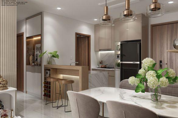 Thiết kế nội thất căn hộ chung cư Kingdom-Phòng ăn