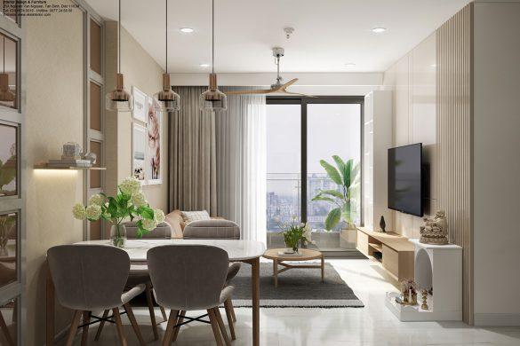 Phòng ăn & phòng khách căn hộ chung cư Kingdom
