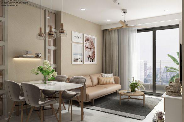 Phòng khách căn hộ chung cư Kingdom